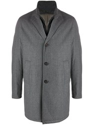 Canali Waterproof Button Up Coat 60