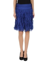 Ralph Lauren Black Label Knee Length Skirts Blue