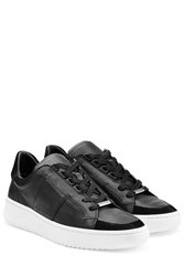 Burberry Shoes And Accessories Leather And Suede Sneakers Black