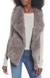 Love Token Faux Fur Vest Grey