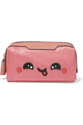 Anya Hindmarch Girlie Stuff Kawaii Leather Trimmed Cosmetics Case Antique Rose