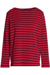 Petit Bateau Striped Cotton Top Red