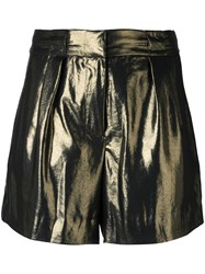 Elizabeth And James Lame Effect Shorts Metallic