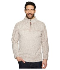True Grit Frosty Cord Pile 1 4 Zip Pullover Oatmeal Clothing Brown