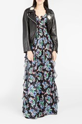 Msgm Women S Floral Print Ruffled Maxi Dress Boutique1 Black