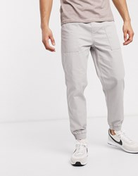 New Look Cuffed Utility Trouser In Grey
