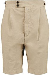 Joseph Dean Cotton Blend Twill Shorts Nude
