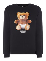 Moschino Men's Teddy Bear Logo Sweatshirt Black