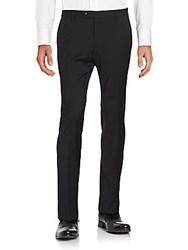Sand Wool Blend Dress Pants Black