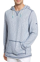 Tommy Bahama Big And Tall Bayfront Stripe Hoodie Galaxy Blue