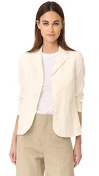 Vince Three Button Blazer Vanilla