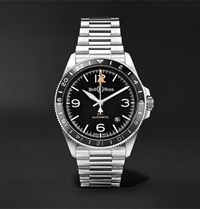 Bell And Ross Br V2 93 Gmt Automatic 41Mm Stainless Steel Watch Black