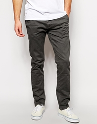 Solid Solid Skinny Fit Chinos Grey