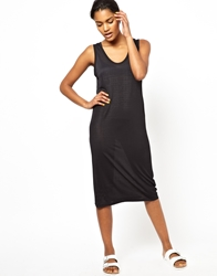 Ann Sofie Back Back By Ann Sofie Back Sleeveless Tank Dress With Logo Elastic Waistband Black