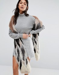 Urbancode Super Long Faux Fur Scarf Stag Precious Multi