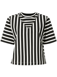 Ck Calvin Klein Basque Stripe T Shirt Black