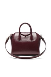 Givenchy Small Patent Leather Antigona In Purple Red Purple Red