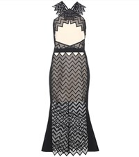 David Koma Stretch Jersey Dress Black