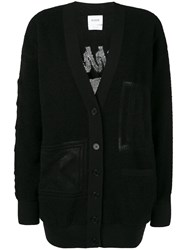 Barrie Classic Fitted Cardigan Black