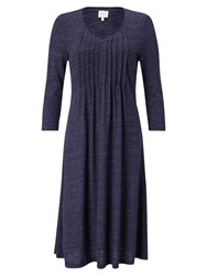 East Pintuck Flared Jersey Dress Sapphire