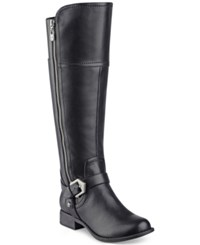 G By Guess Hailee Wide Calf Riding Boots Women's Shoes Black