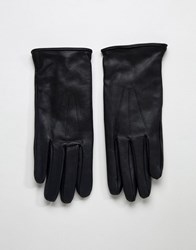 Paul Costelloe Basic Leather Gloves In Black