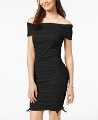 Material Girl Juniors' Off The Shoulder Bodycon Dress Created For Macy's Caviar