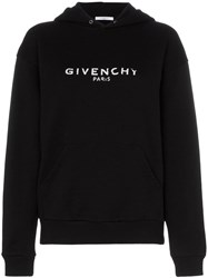 Givenchy Oversized Faded Logo Print Hoodie Black