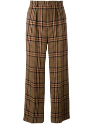 Ami Alexandre Mattiussi Box Pleated Wide Trousers Men Wool Other Fibres Polyimide 36 Brown