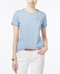 Tommy Hilfiger Embroidered T Shirt Only At Macy's Chambray