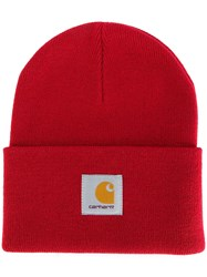 Carhartt Logo Patch Beanie Red