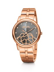 Folli Follie Santorini Flower Rose Gold Grey Watch