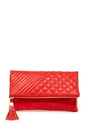 Urban Expressions Lola Flap Quilted Clutch Red