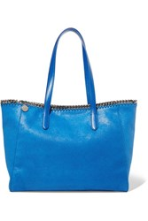 Stella Mccartney The Falabella Faux Brushed Leather Tote Blue