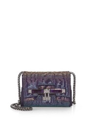 Kara Ross Lux Mini Beaded Clutch Amethyst