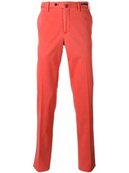 Pt01 Chino Style Trousers Men Cotton Spandex Elastane 54 Red