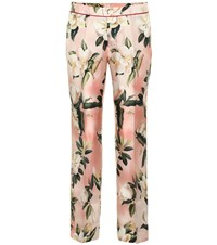 F.R.S For Restless Sleepers Ceo Floral Silk Pajama Pants Pink