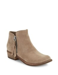 Dolce Vita Sutton Suede Ankle Boots Dark Taupe