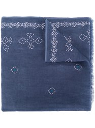 Altea Embroidered Detail Scarf Blue