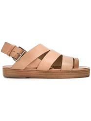 Marsell Open Toe Strapped Sandals Women Calf Leather Leather 37 Nude Neutrals