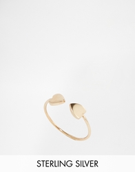 Asos Gold Plated Sterling Silver Open Heart Ring
