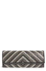 Natasha Couture Chevron Crystal Clutch
