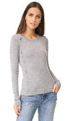 Bailey 44 Crew Side Button Cardigan Heather Grey