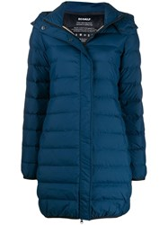 Ecoalf Hooded Padded Coat Blue
