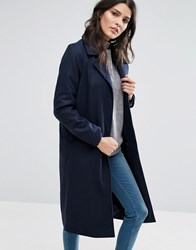 Brave Soul Long Coat Dark Navy