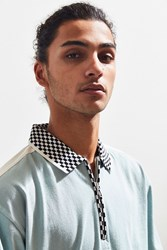 Urban Outfitters Uo Blocked Zip Polo Shirt Slate