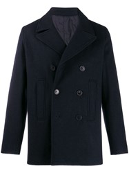 Zadig And Voltaire Double Breasted Peacoat Blue
