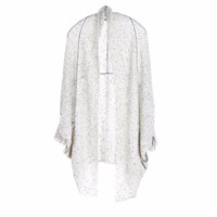 Paychi Guh Cashmere Cocoon Cardigan Grey Speckle