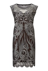 James Lakeland Embroidered Lace Detail Dress Black