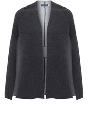 Mint Velvet Grey Double Faced Knitted Cape Grey